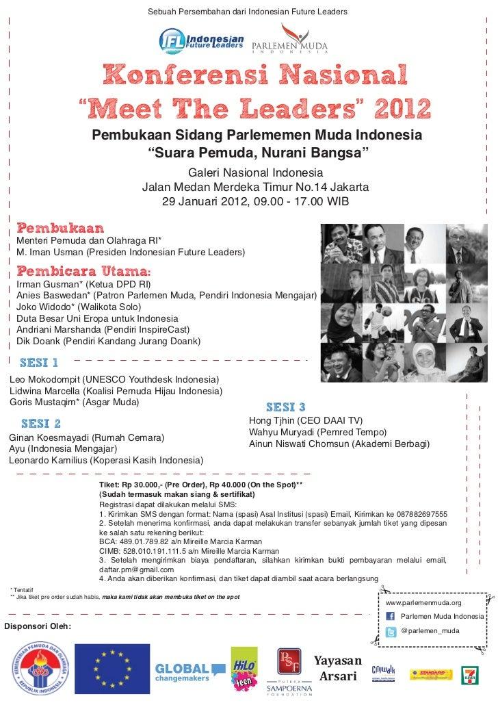 """Sebuah Persembahan dari Indonesian Future Leaders                          Konferensi Nasional                         """"Me..."""