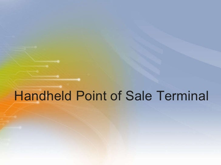 Handheld Point of Sale Terminal