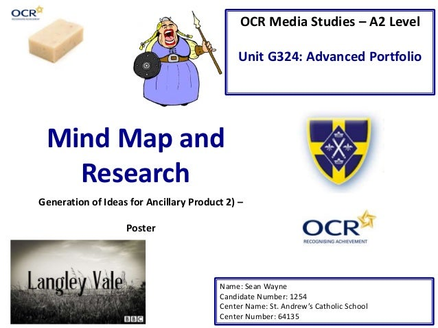 OCR Media Studies – A2 Level Unit G324: Advanced Portfolio Mind Map and Research Name: Sean Wayne Candidate Number: 1254 C...