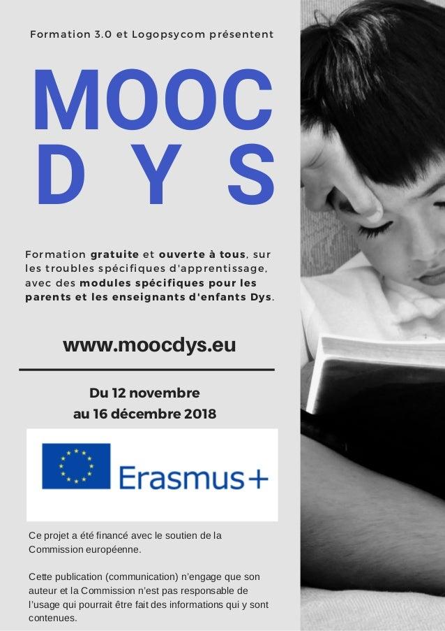 Formation 3.0 et Logopsycom présentent MOOC Formation gratuite et ouverte à tous, sur les troubles spécifiques d'apprentis...