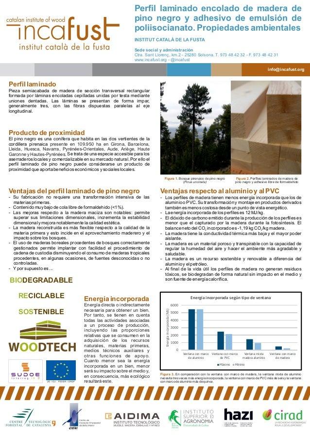 Ventajas respecto al aluminio y al PVC - Los perfiles de madera tienen menos energía incorporada que los de aluminio o PVC...