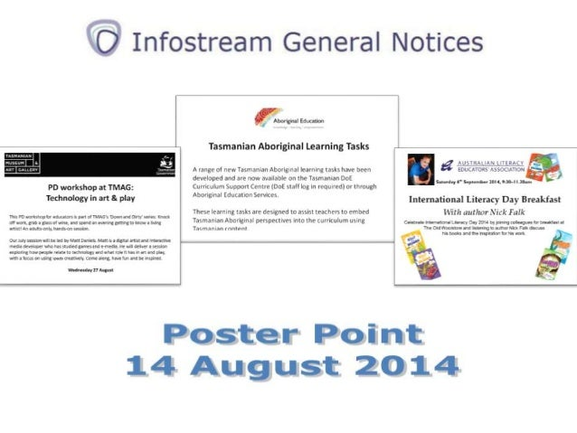 Poster Point 14 August 2014