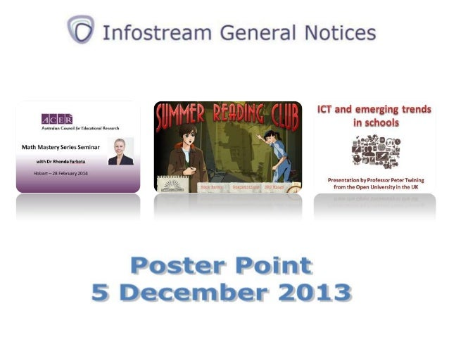New online form for submissions to  Infostream General Notices