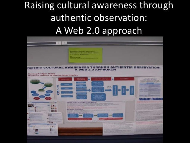 Raising cultural awareness through authentic observation: A Web 2.0 approach