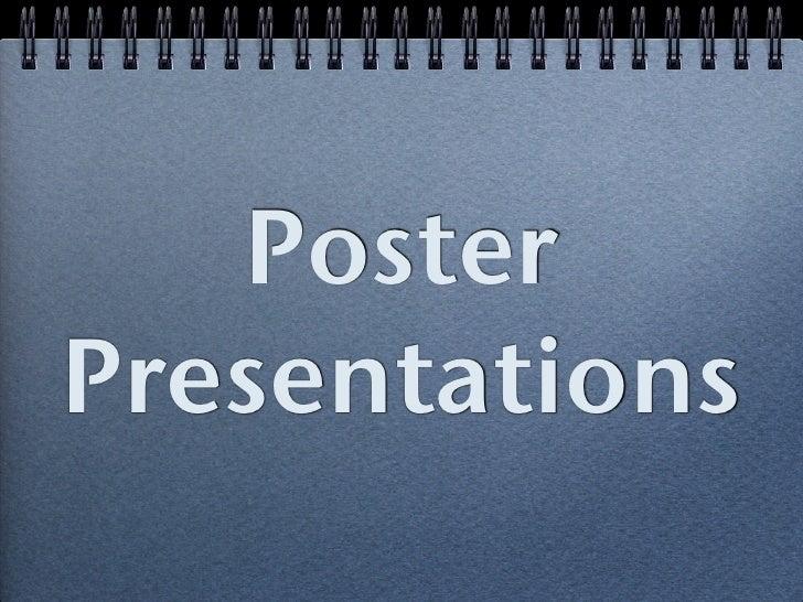 Poster board presentation tips slides