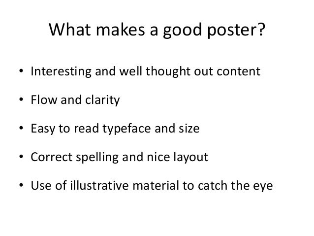Poster Presentations That Get Noticed