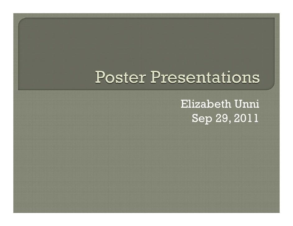 Elizabeth Unni  Sep 29, 2011