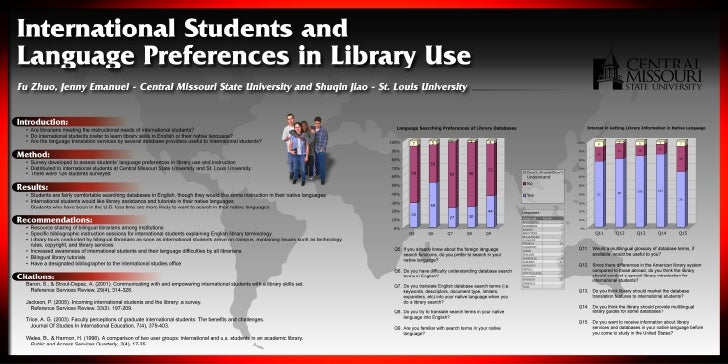 Language Preferences for Database Usage among International Students