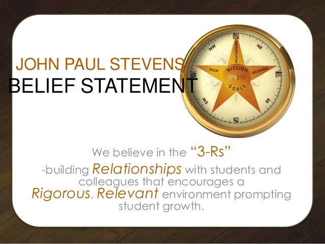 "We believe in the ""3-Rs"" -building Relationships with students and colleagues that encourages a Rigorous, Relevant environ..."