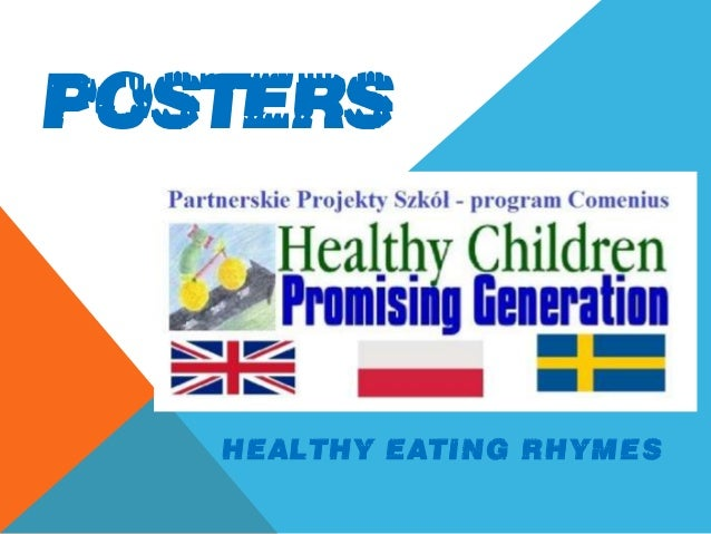 POSTERS HEALTHY EATING RHYMES