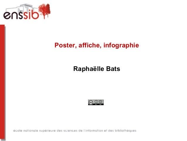 Poster, affiche, infographie Raphaëlle Bats