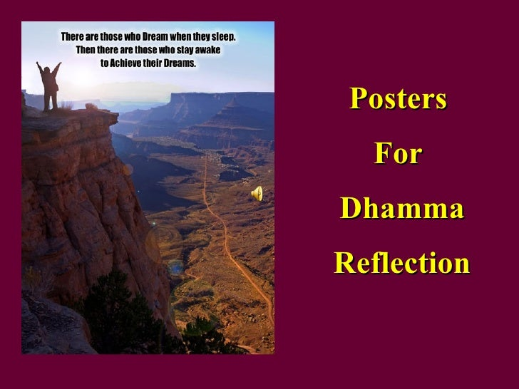 Posters  For  Dhamma Reflection