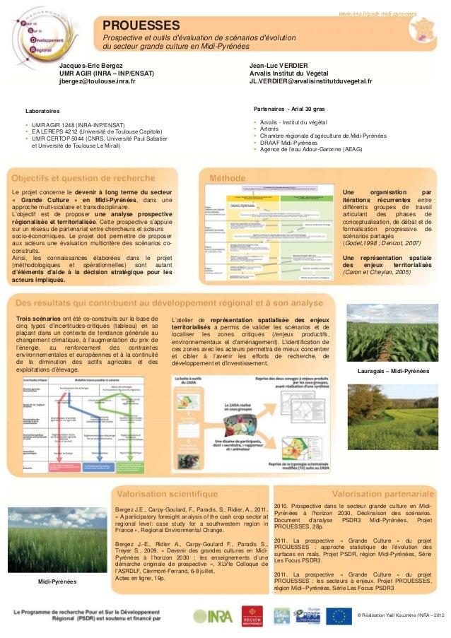 PROUESSES Prospective et outils d'évaluation de scénarios d'évolution du secteur grande culture en Midi-Pyrénées www.inra....