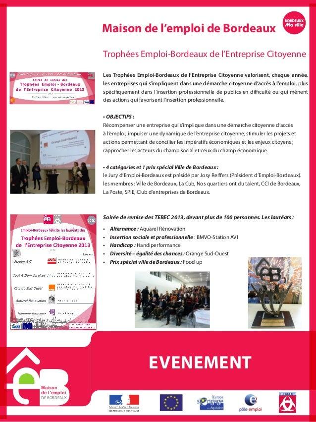 Actions et fonctionnement 2012 de emploi bordeaux - Salon emploi bordeaux ...