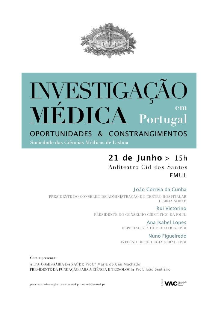 INVESTIGAÇÃO             MÉDICA Portugal                                                                                  ...