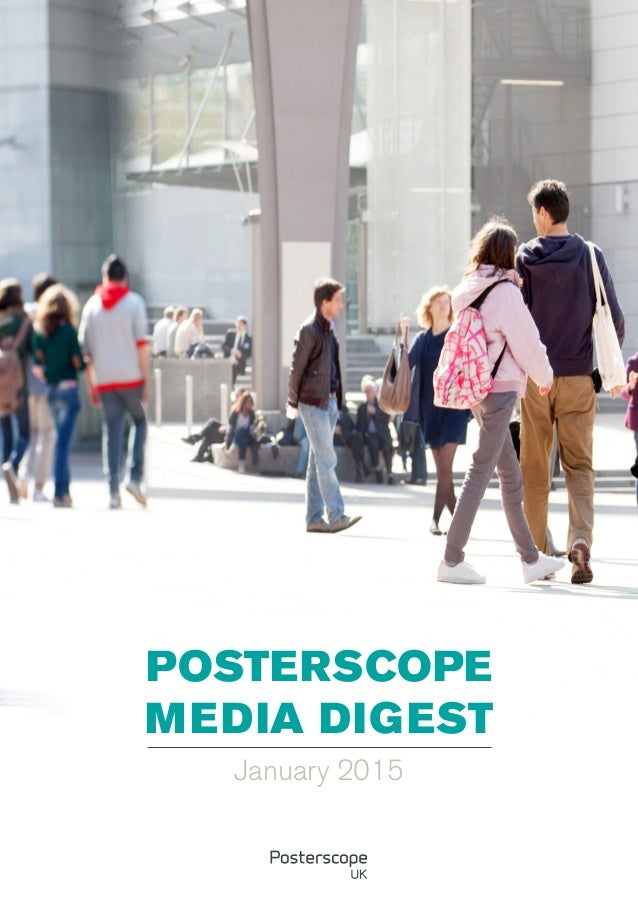 POSTERSCOPE MEDIA DIGEST January 2015