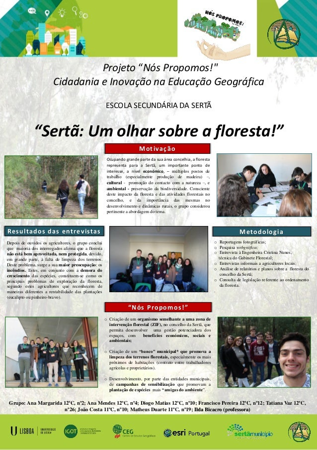 Grupo: Ana Margarida 12ºC, nº2; Ana Mendes 12ºC, nº4; Diogo Matias 12ºC, nº10; Francisco Pereira 12ºC, nº12; Tatiana Vaz 1...