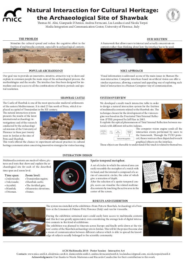 Natural Interaction for Cultural Heritage: the Archaeological Site of Shawbak Stimulate the cultural spread and reduce the...