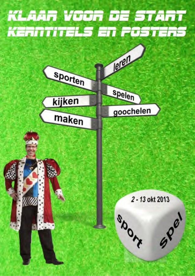 Catalogus met posters en kerntitels van CPNB voor kinderboekenweek 2013 over sport en spel, klaar voor de start Kinderboek...