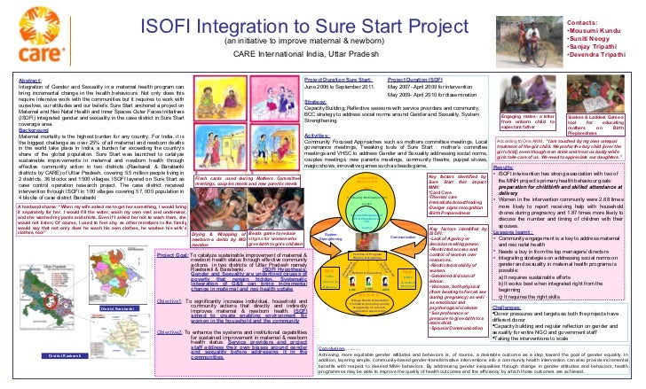 ISOFI Integration to Sure Start Project (an initiative to improve maternal & newborn)   CARE International India, Uttar Pr...