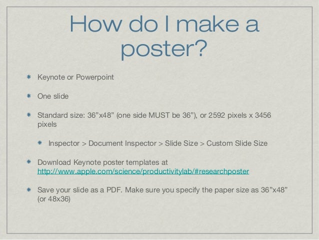 make a poster with powerpoint