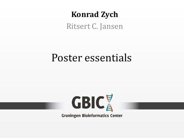Poster essentialsKonrad ZychRitsert C. Jansen