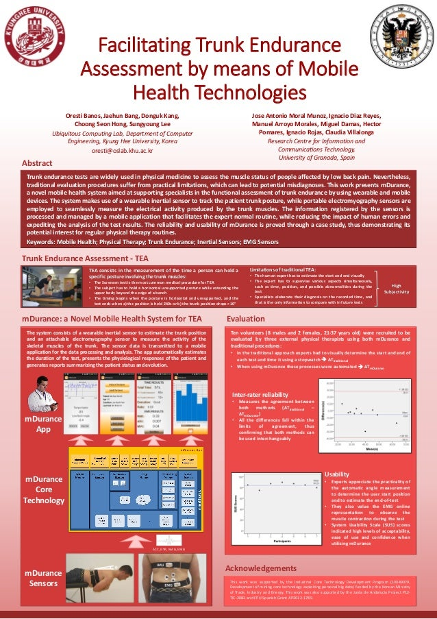 Facilitating Trunk Endurance Assessment by means of Mobile Health Technologies Oresti Banos, Jaehun Bang, Donguk Kang, Cho...