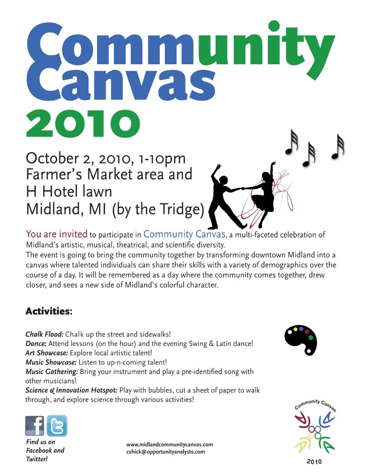 Community Canvas Poster - White