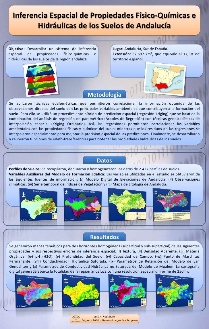 Inferencia Espacial de Propiedades Físico-Químicas e Hidráulicas de los Suelos de Andalucía<br />Objetivo:Desarrollar un s...