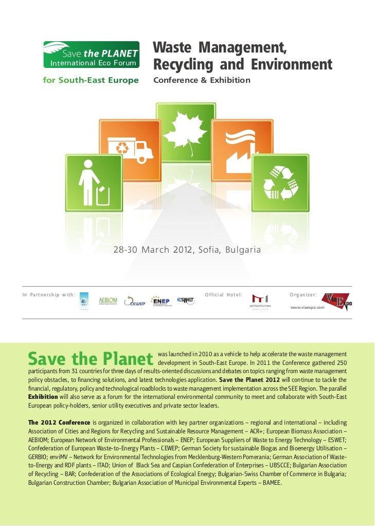 Waste Management,           International Eco Forum                                                    Recycling and Envir...