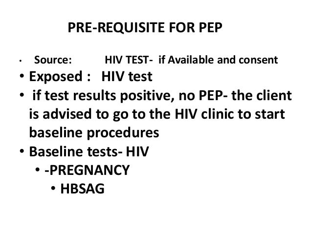 Post exposure prophylaxis- HEALTH SECTOR WELLNESS SERVICES