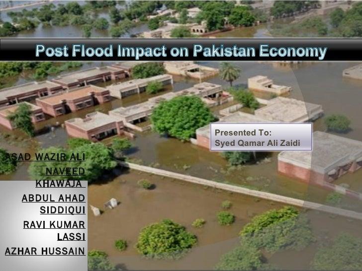 Post flood impact on pakistan economy new