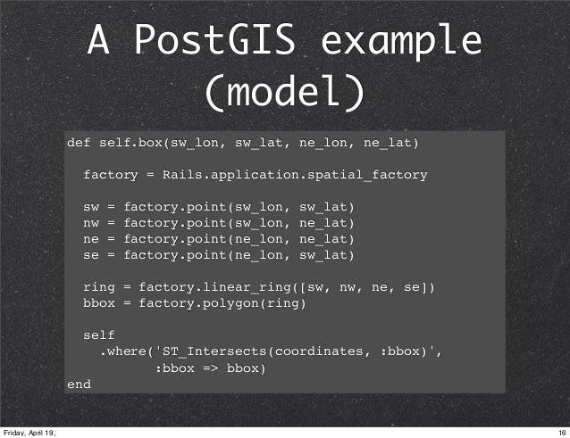 PostGIS on Rails