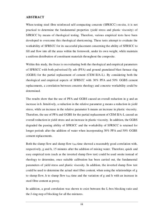 """phd thesis on self compacting concrete Declaration i, nanand hereby declare that the thesis, entitled """"studies on the behaviour of self compacting concrete under elevated temperatures"""", submitted to the karunya university, in partial fulfillment of the requirements for the award of the degree of doctor of philosophy in civil engineering is a record of."""
