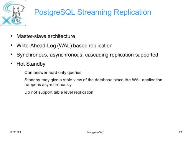 Write ahead logging postgresql commands