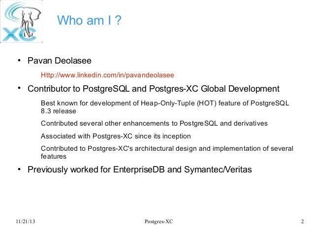 Postgres-XC: Symmetric PostgreSQL Cluster Slide 2