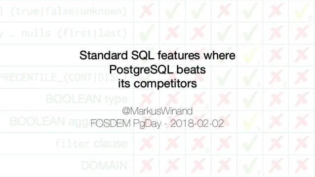 Standard SQL features where