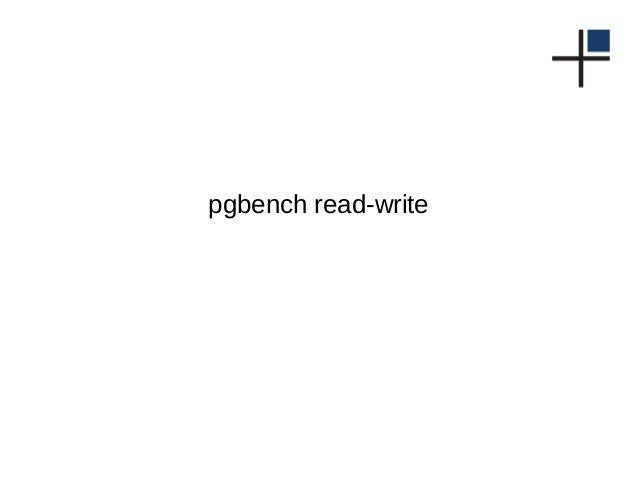 pgbench read-write
