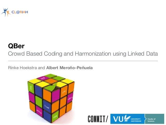 QBer  Crowd Based Coding and Harmonization using Linked Data Rinke Hoekstra and Albert Meroño-Peñuela