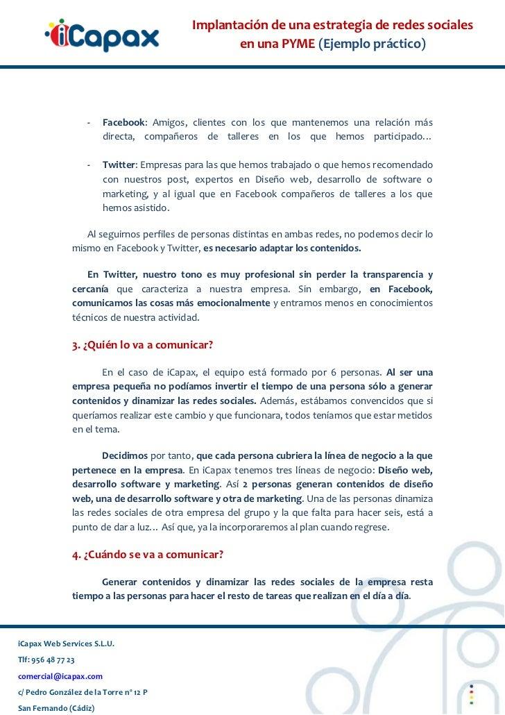 Implantación de redes sociales en Pyme de Cádiz. Estrategia 2.0 Slide 2
