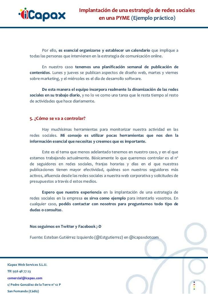 Implantación de redes sociales en Pyme de Cádiz. Estrategia 2.0 Slide 3