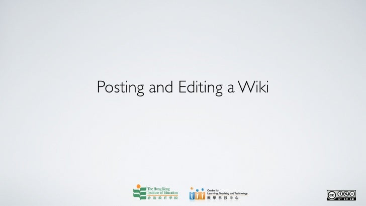 Posting and Editing a Wiki