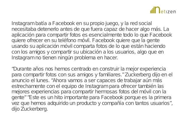 Instagram batía a Facebook en su propio juego, y la red social  necesitaba detenerlo antes de que fuera capaz de hacer alg...