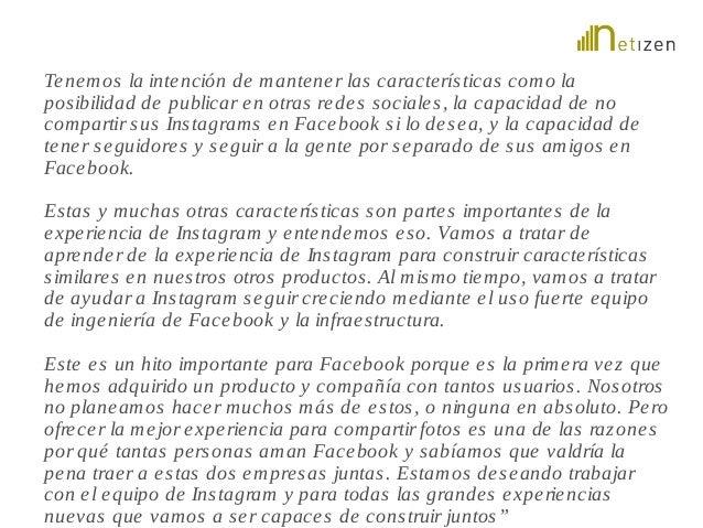 Tenemos la intención de mantene r las caracte rís ticas como la  pos ibilidad de publicar en otras rede s sociale s , la c...