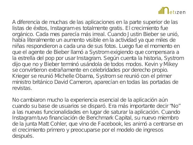 A diferencia de muchas de las aplicaciones en la parte superior de las  listas de éxitos, Instagram es totalmente gratis. ...