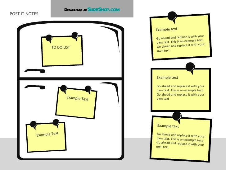POST IT NOTES Example text Go ahead and replace it with your own text. This is an example text. Go ahead and replace it wi...