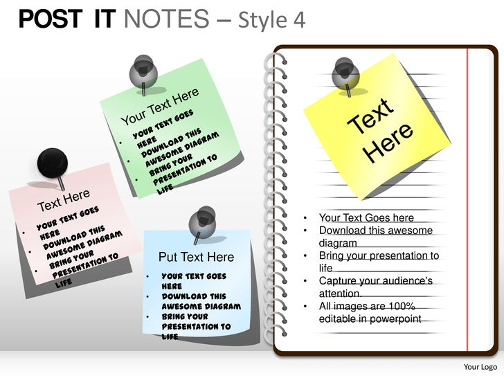 POST IT NOTES – Style 4                                •   Your Text Goes here                                •   Download...