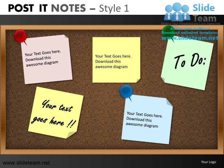 POST IT NOTES – Style 1                    Your Text Goes here.                    Download this                    awesom...