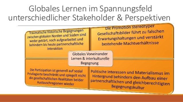 Globales Lernen im Spannungsfeld unterschiedlicher Stakeholder & Perspektiven