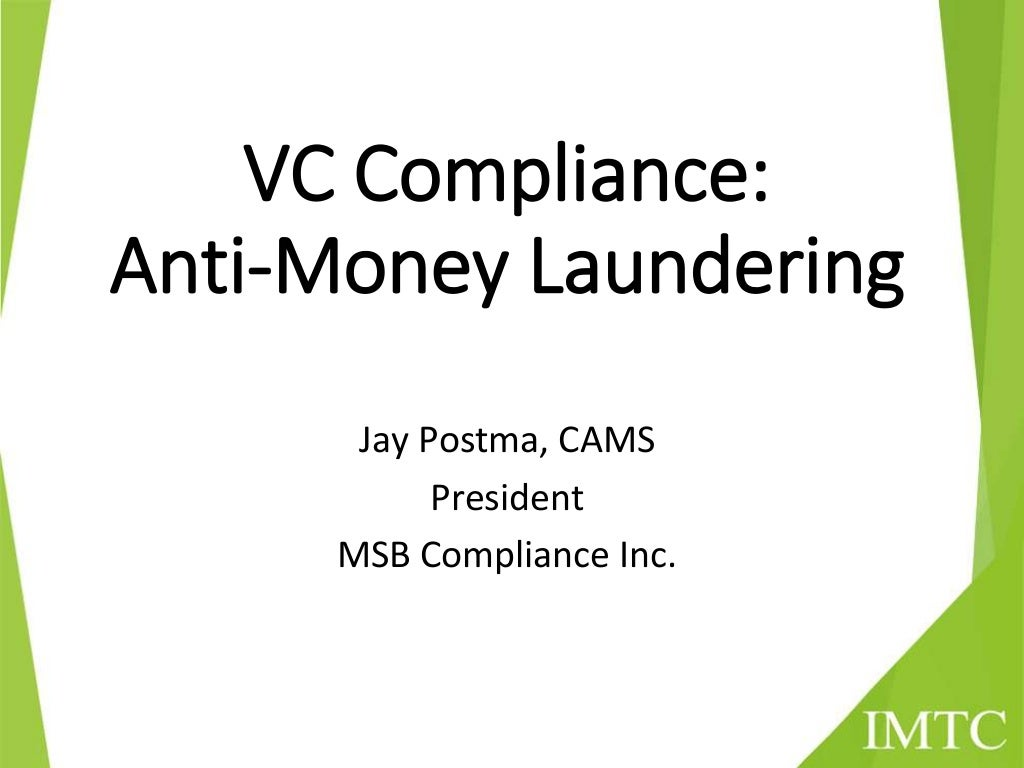 Virtual Currency Compliance: Anti-Money Laundering
